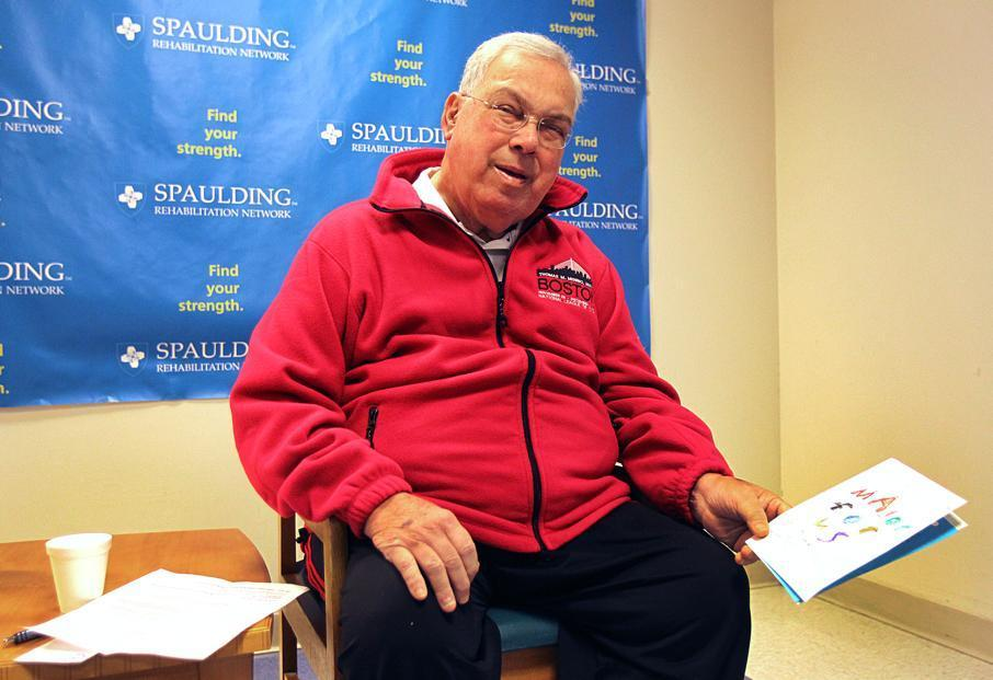 Mayor Thomas M. Menino spoke to the media last month at Spaulding Rehabilitation Hospital.